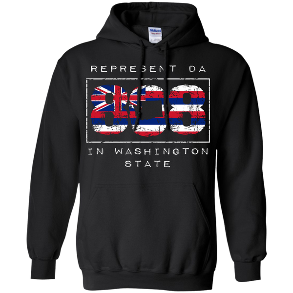 Represent Da 808 In Washington State Pullover Hoodie 8 oz, Hoodies, Hawaii Nei All Day, Hawaii Clothing Brands