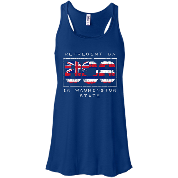 Represent Da 808 In Washington State Bella+Canvas Flowy Racerback Tank, , Hawaii Nei All Day, Hawaii Clothing Brands