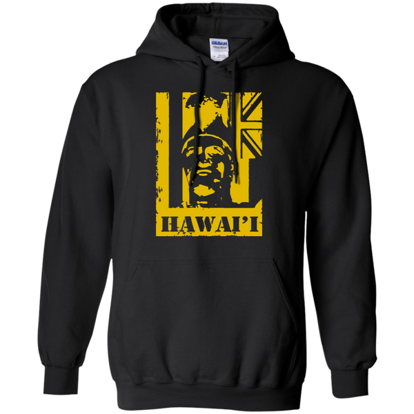 Hawai'i King Kamehameha (yellow) Pullover Hoodie, Sweatshirts, Hawaii Nei All Day