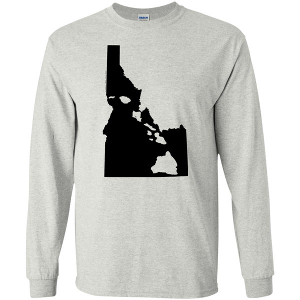 Living In Idaho With Hawaii Roots LS Ultra Cotton T-Shirt, T-Shirts, Hawaii Nei All Day, Hawaii Clothing Brands