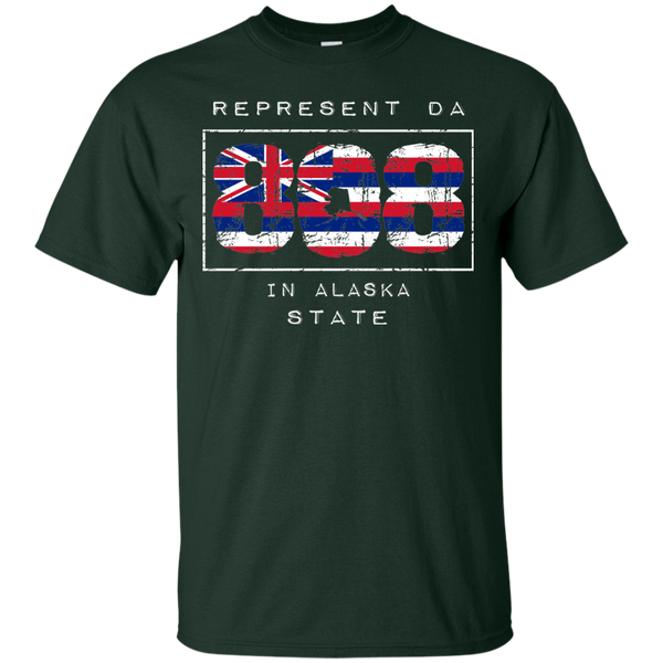 Rep Da 808 In Alaska State Ultra Cotton T-Shirt, T-Shirts, Hawaii Nei All Day