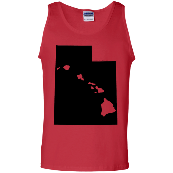 Living in Utah with Hawaii Roots 100% Cotton Tank Top, T-Shirts, Hawaii Nei All Day, Hawaii Clothing Brands