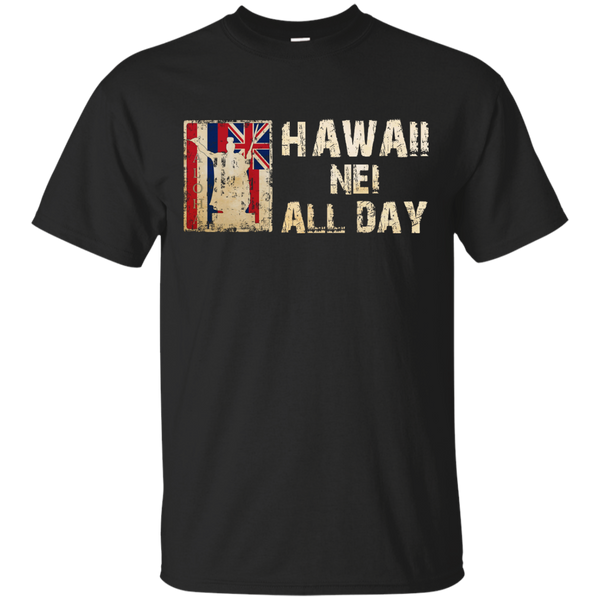 Hawaii Nei ALL DAY Custom Ultra Cotton T-Shirt, Short Sleeve, Hawaii Nei All Day, Hawaii Clothing Brands