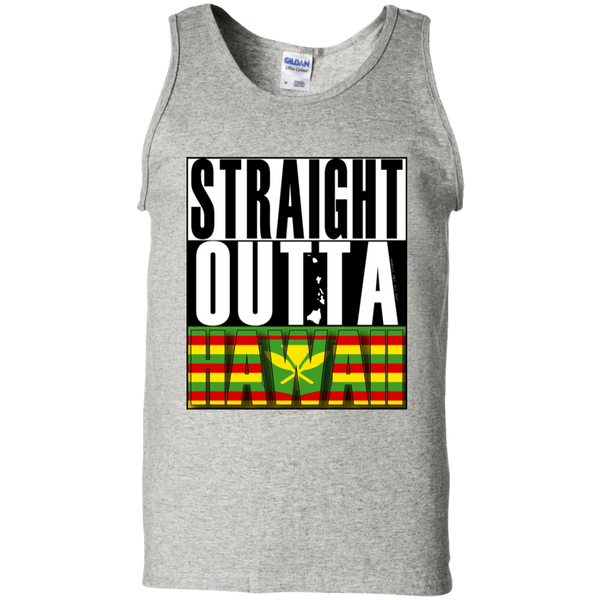 Straight Outta Hawaii(kanaka maoli) 100% Cotton Tank Top, T-Shirts, Hawaii Nei All Day
