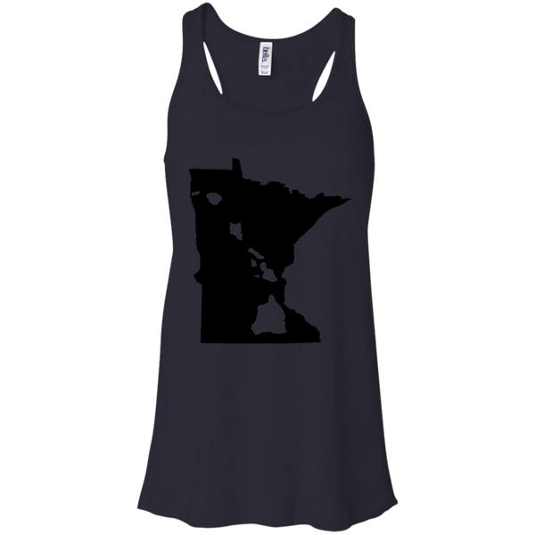 Living in Minnesota with Hawaii Roots Bella + Canvas Flowy Racerback Tank, T-Shirts, Hawaii Nei All Day, Hawaii Clothing Brands