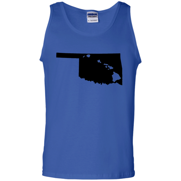 Living in Oklahoma with Hawaii Roots 100% Cotton Tank Top, T-Shirts, Hawaii Nei All Day