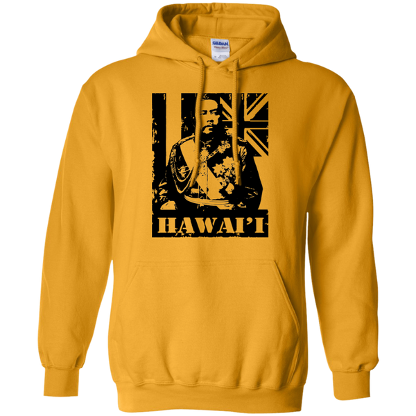 Hawai'i King Kalakaua Pullover Hoodie, Sweatshirts, Hawaii Nei All Day