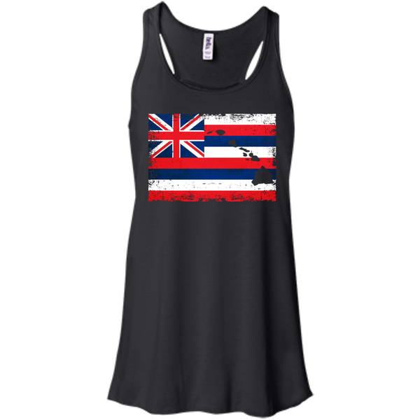 Hawaii State Bella+Canvas Flowy Racerback Tank, , Hawaii Nei All Day, Hawaii Clothing Brands
