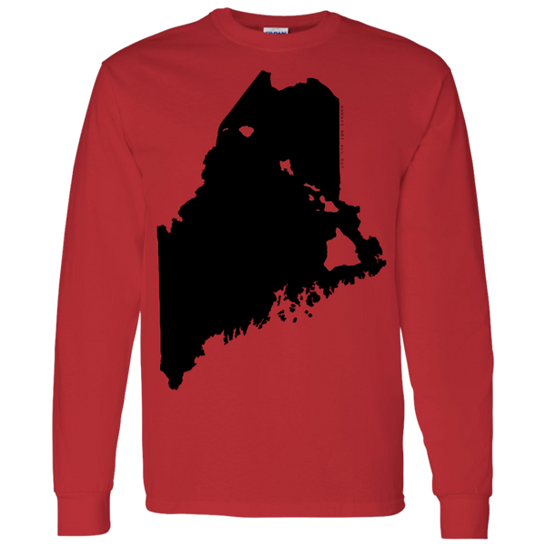 Living in Maine with Hawaii Roots LS T-Shirt 5.3 oz., T-Shirts, Hawaii Nei All Day