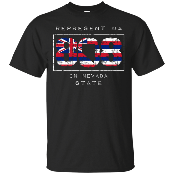 Represent Da 808 In Nevada State Custom Ultra Cotton T-Shirt, Short Sleeve, Hawaii Nei All Day