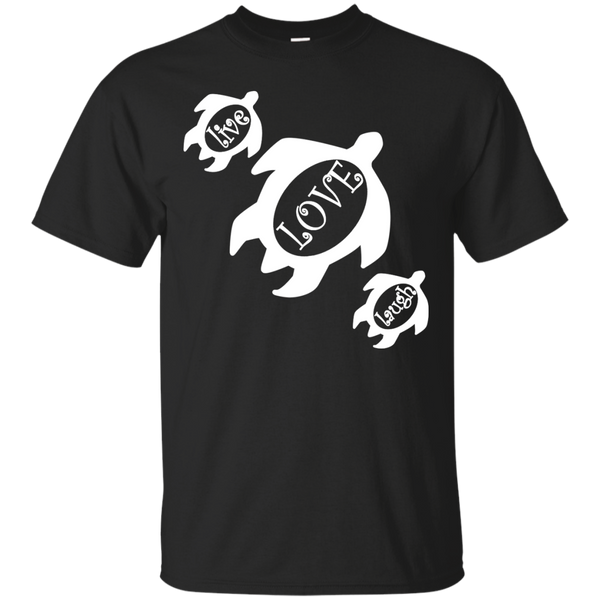Live, LOVE, Laugh Honu Custom Ultra Cotton T-Shirt, Short Sleeve, Hawaii Nei All Day