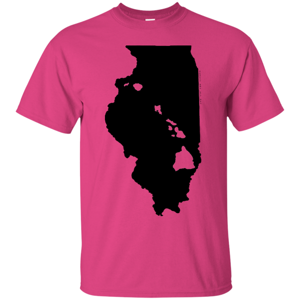 Living in Illinois with Hawaii Roots Ultra Cotton T-Shirt, T-Shirts, Hawaii Nei All Day
