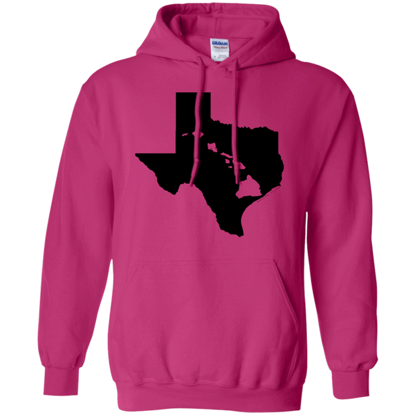 Living In Texas With Hawaii Roots Pullover Hoodie 8 oz - Hawaii Nei All Day