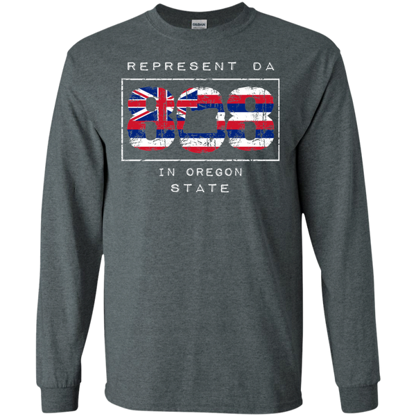 Rep Da 808 In Oregon State LS Ultra Cotton T-Shirt, T-Shirts, Hawaii Nei All Day, Hawaii Clothing Brands