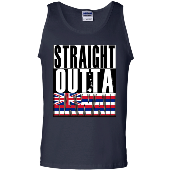 Straight Outta Hawaii 100% Cotton Tank Top, T-Shirts, Hawaii Nei All Day