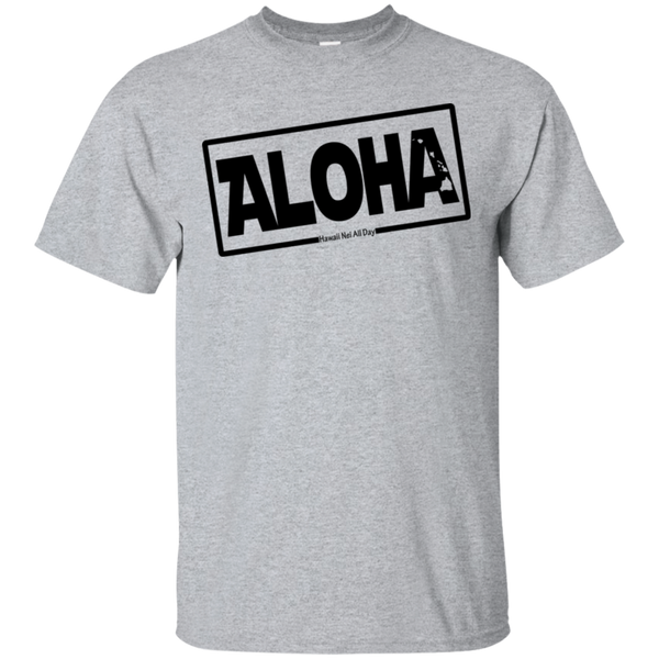 Aloha Hawai'i Nei (Islands blk ink) Ultra Cotton T-Shirt, T-Shirts, Hawaii Nei All Day