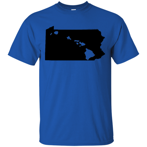 Living in Pennsylvania with Hawaii Roots Ultra Cotton T-Shirt, T-Shirts, Hawaii Nei All Day