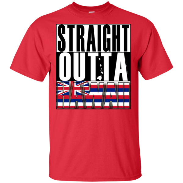 Straight Outta Hawaii Ultra Cotton T-Shirt, T-Shirts, Hawaii Nei All Day