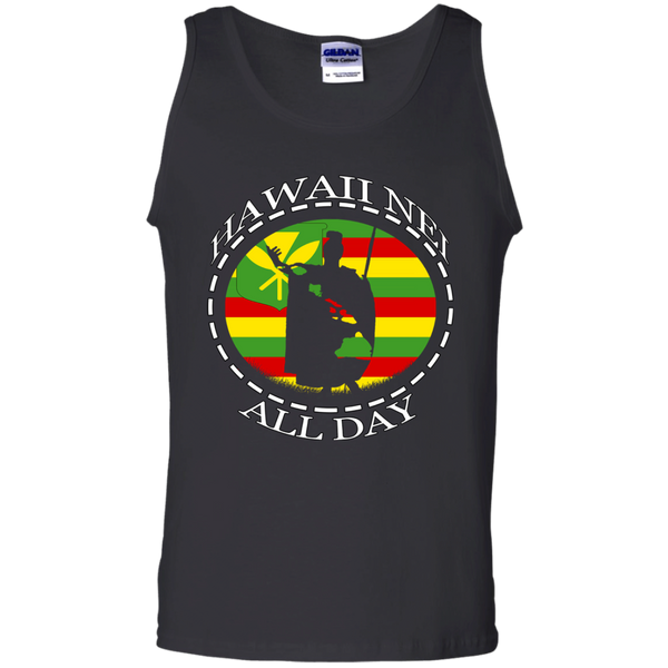 The Rising Sun Kanaka Maoli Flag 100% Cotton Tank Top