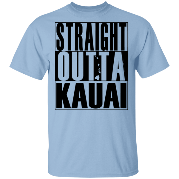 Straight Outta Kauai(black ink) T-Shirt