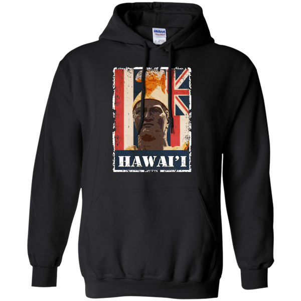 Hawai'i King Kamehameha Pullover Hoodie, Hoodies, Hawaii Nei All Day