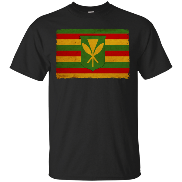 Kanaka Maoli Flag Ultra Cotton T-Shirt, Short Sleeve, Hawaii Nei All Day