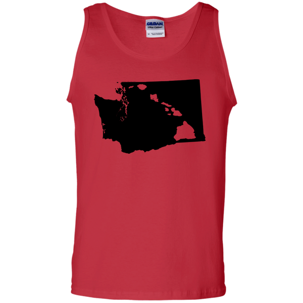 Living In Washington With Hawaii Roots 100% Cotton Tank Top, Sleeveless, Hawaii Nei All Day