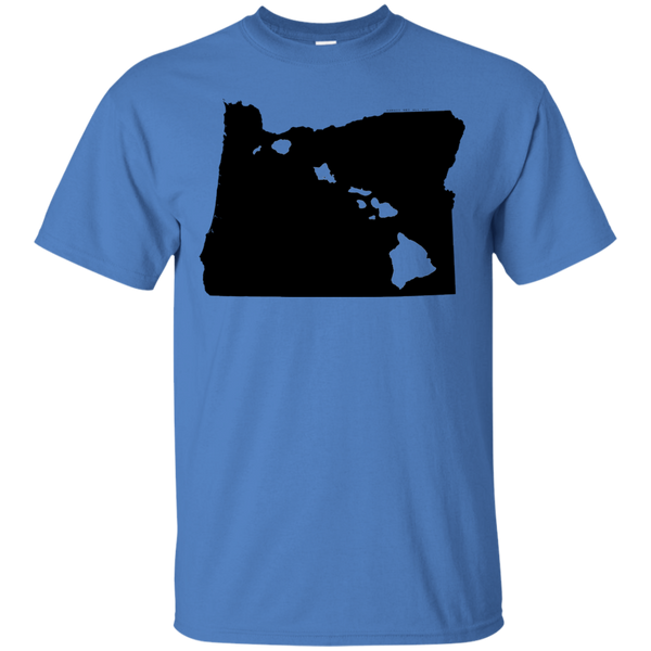 Living in Oregon with Hawaii Roots Ultra Cotton T-Shirt, T-Shirts, Hawaii Nei All Day, Hawaii Clothing Brands