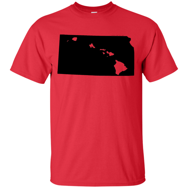 Living in Kansas with Hawaii Roots Ultra Cotton T-Shirt, T-Shirts, Hawaii Nei All Day, Hawaii Clothing Brands