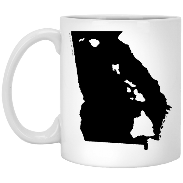 Georgia and Hawaii Roots White Mug