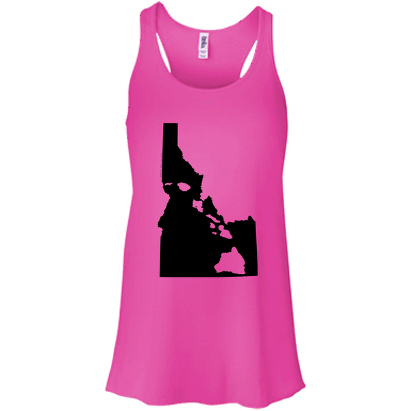 Living In Idaho With Hawaii Roots Bella + Canvas Flowy Racerback Tank, T-Shirts, Hawaii Nei All Day, Hawaii Clothing Brands