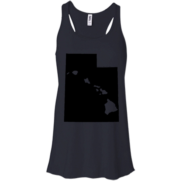Living in Utah with Hawaii Roots Bella + Canvas Flowy Racerback Tank - Hawaii Nei All Day