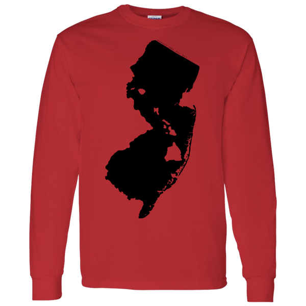 Living in New Jersey with Hawaii Roots LS T-Shirt 5.3 oz., T-Shirts, Hawaii Nei All Day, Hawaii Clothing Brands