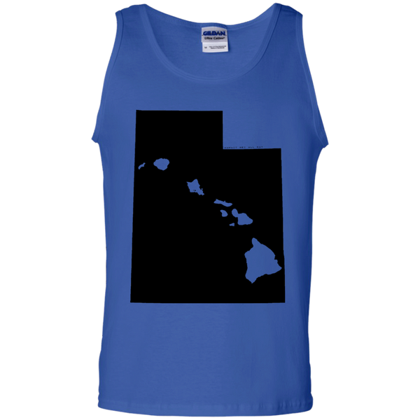 Living in Utah with Hawaii Roots 100% Cotton Tank Top, T-Shirts, Hawaii Nei All Day
