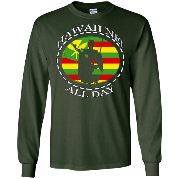 The Rising Sun Kanaka Maoli Flag LS Ultra Cotton T-Shirt, T-Shirts, Hawaii Nei All Day