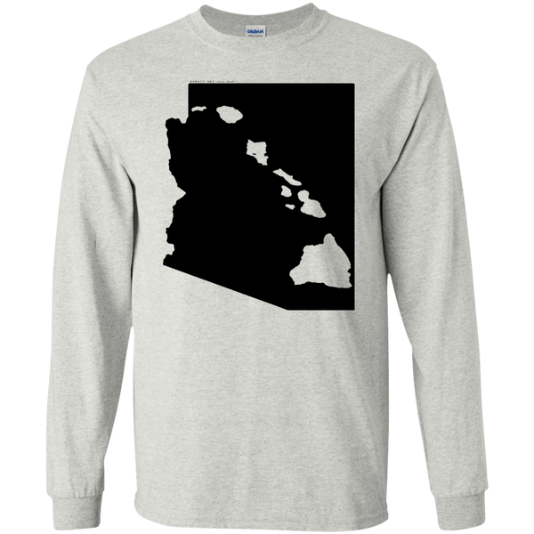 Living in Arizona with Hawaii Roots LS Ultra Cotton T-Shirt, T-Shirts, Hawaii Nei All Day