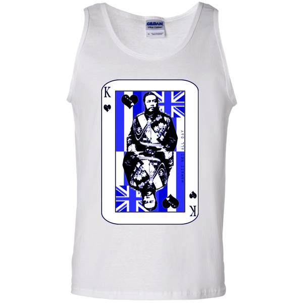 The King of Hawai'i Kalakaua(blue ink) 100% Cotton Tank Top