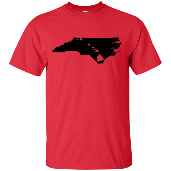 Living in North Carolina with Hawaii Roots Ultra Cotton T-Shirt, T-Shirts, Hawaii Nei All Day