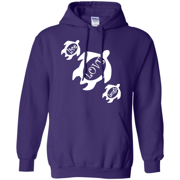 Live, LOVE, Laugh Honu Pullover Hoodie, Hoodies, Hawaii Nei All Day