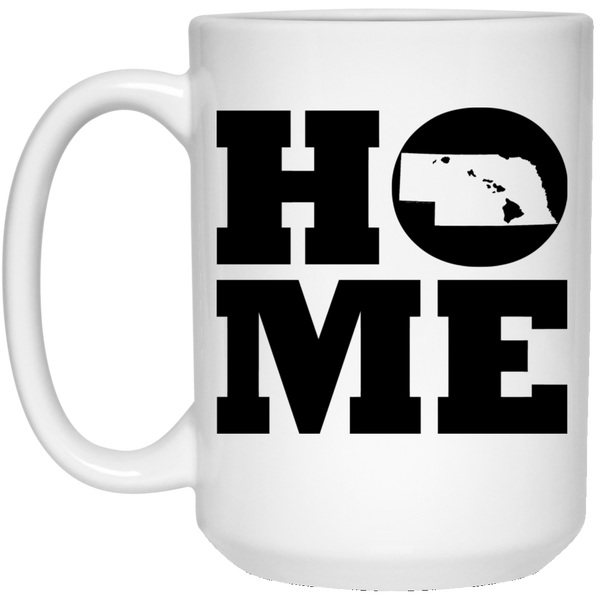 Home Roots Hawai'i and Nebraska White Mug, Apparel, Hawaii Nei All Day