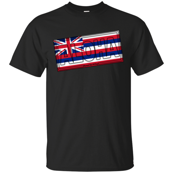 Aloha Hawai'i Flag Ultra Cotton T-Shirt, T-Shirts, Hawaii Nei All Day, Hawaii Clothing Brands
