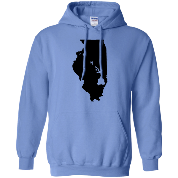 Living in Illinois with Hawaii Roots Pullover Hoodie 8 oz., Sweatshirts, Hawaii Nei All Day, Hawaii Clothing Brands