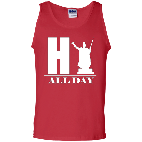 HI ALL DAY 100% Cotton Tank Top, Sleeveless, Hawaii Nei All Day, Hawaii Clothing Brands
