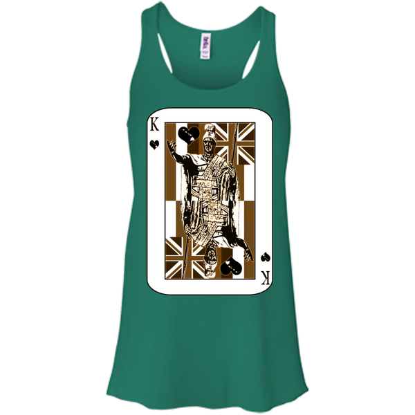 The King of Hawai'i Bella+Canvas Flowy Racerback Tank, , Hawaii Nei All Day