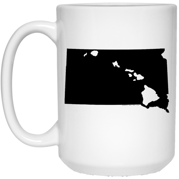 South Dakota and Hawaii Roots White Mug, Apparel, Hawaii Nei All Day