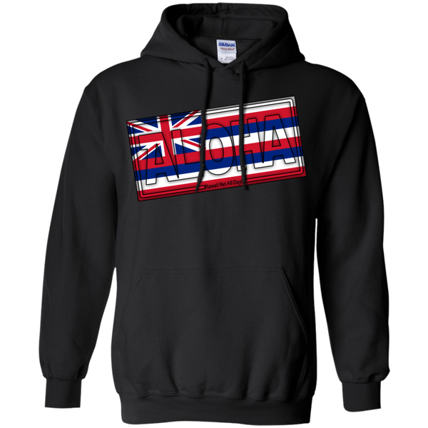 Aloha Hawai'i Flag Pullover Hoodie 8 oz., Sweatshirts, Hawaii Nei All Day, Hawaii Clothing Brands