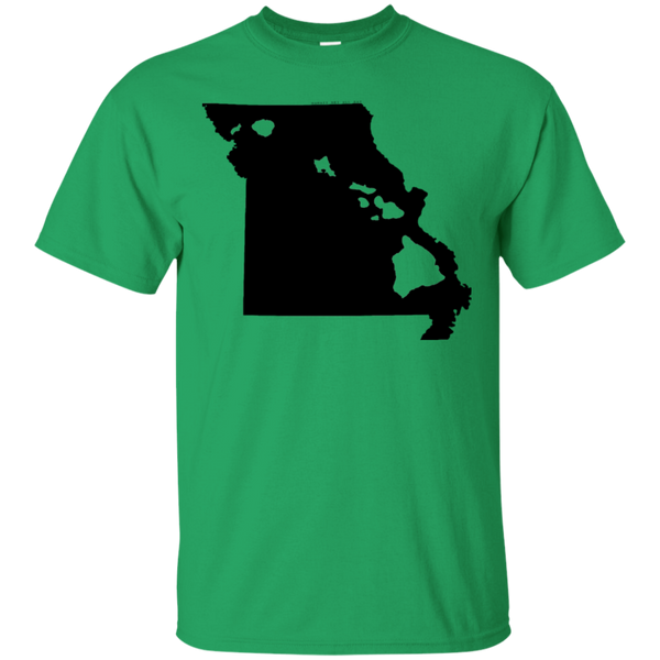 Living in Missouri with Hawaii Roots Ultra Cotton T-Shirt, T-Shirts, Hawaii Nei All Day