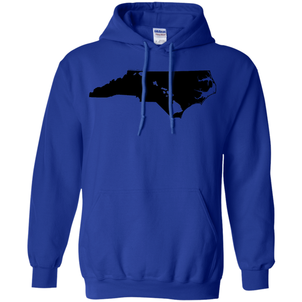 Living in North Carolina with Hawaii Roots Pullover Hoodie 8 oz., Sweatshirts, Hawaii Nei All Day