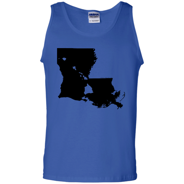 Living in Louisiana with Hawaii Roots 100% Cotton Tank Top, T-Shirts, Hawaii Nei All Day, Hawaii Clothing Brands