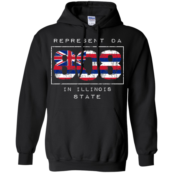 Rep Da 808 In Illinois State Pullover Hoodie, Sweatshirts, Hawaii Nei All Day